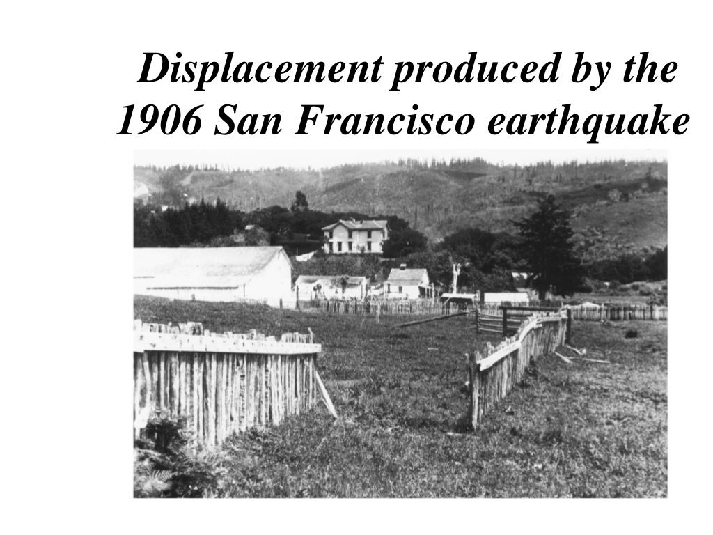 Displacement produced by the   1906 San Francisco earthquake