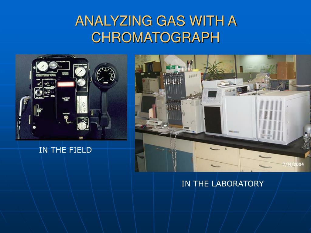 ANALYZING GAS WITH A CHROMATOGRAPH