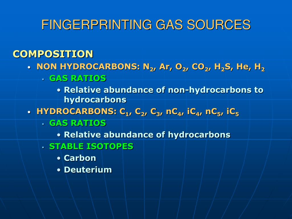 FINGERPRINTING GAS SOURCES