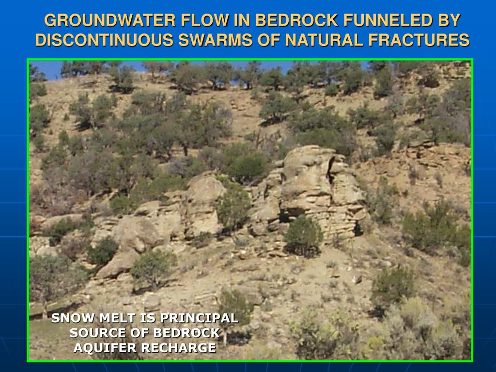 GROUNDWATER FLOW IN BEDROCK FUNNELED BY DISCONTINUOUS SWARMS OF NATURAL FRACTURES