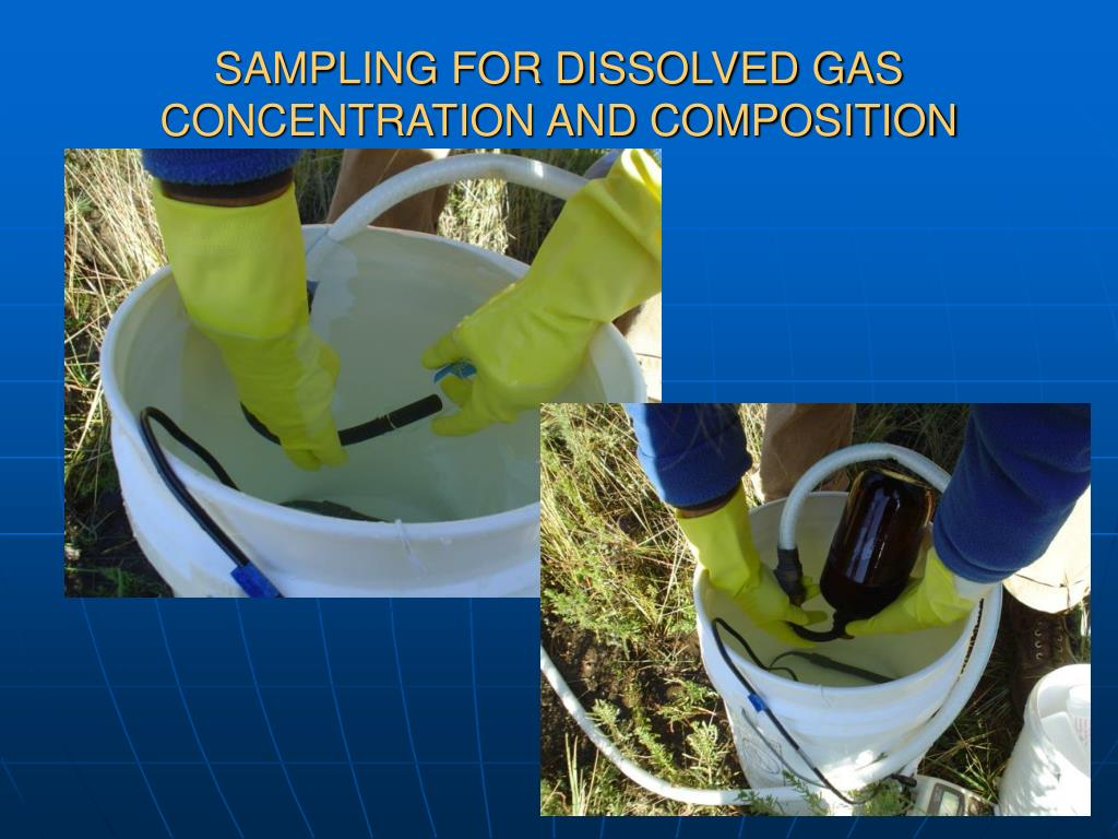 SAMPLING FOR DISSOLVED GAS CONCENTRATION AND COMPOSITION