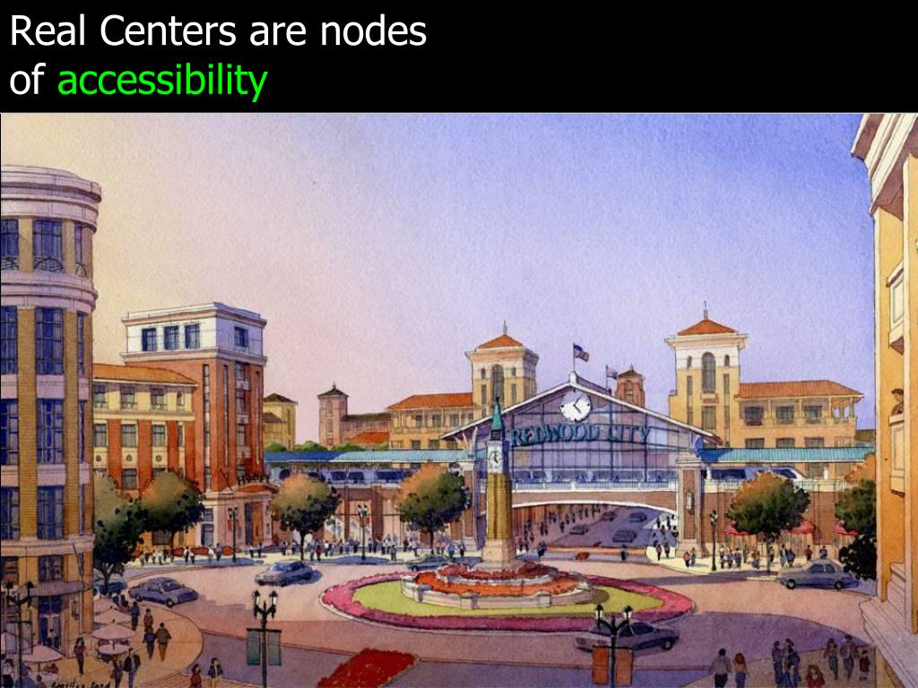 Real Centers are nodes of