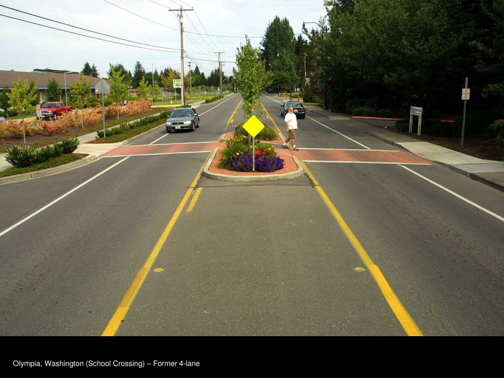 Olympia, Washington (School Crossing) – Former 4-lane
