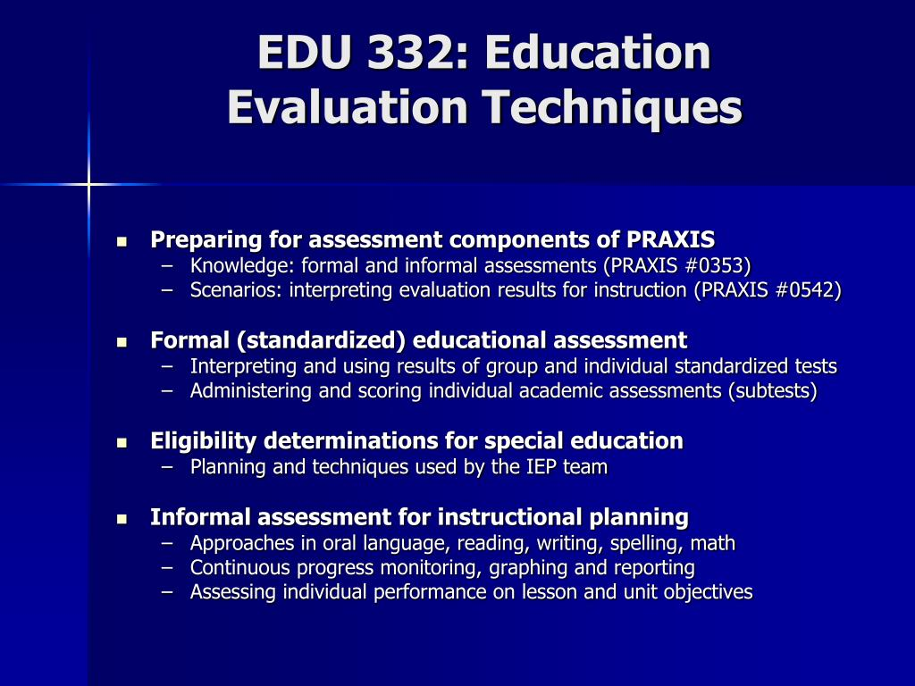 EDU 332: Education