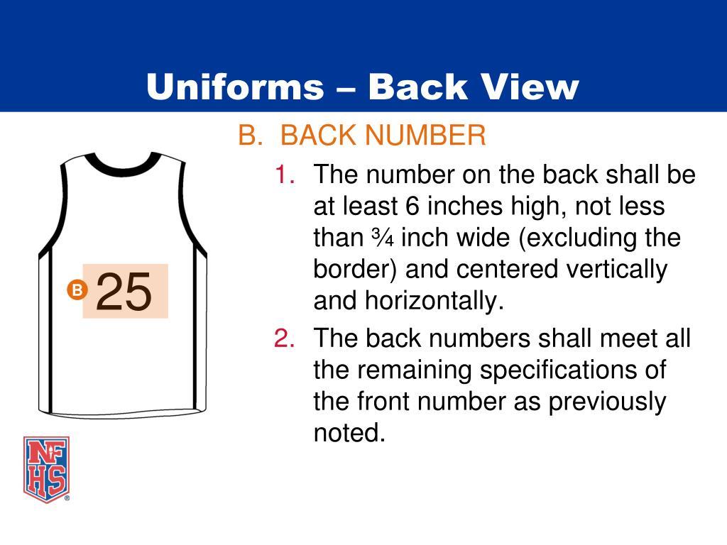 Uniforms – Back View