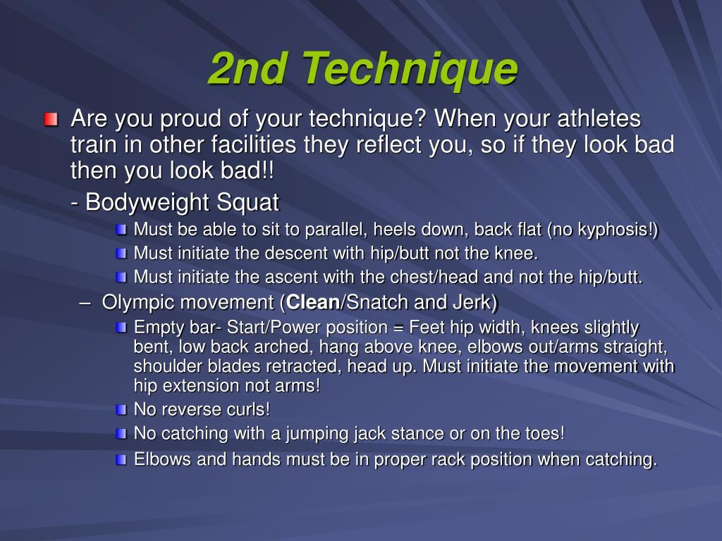 2nd Technique
