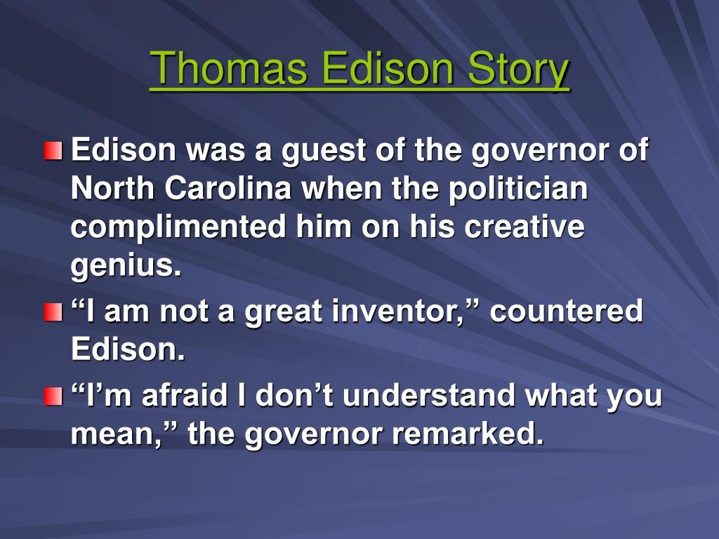Thomas Edison Story