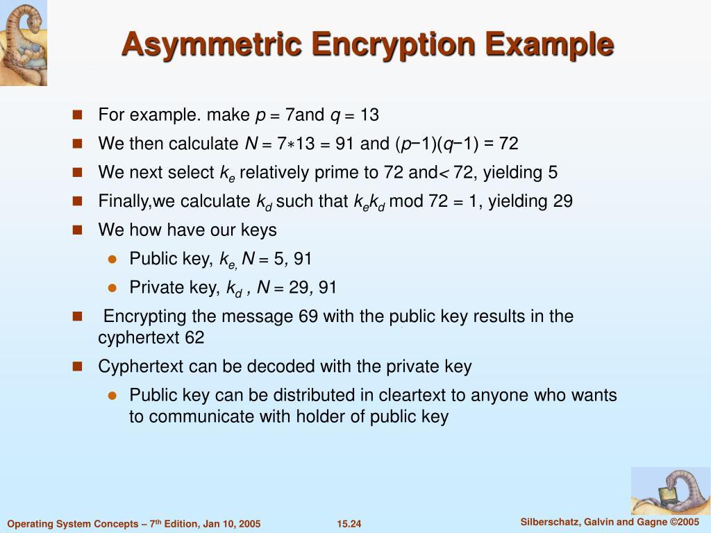 Asymmetric Encryption Example
