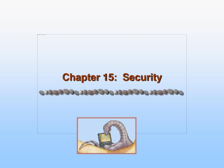 Chapter 15 security