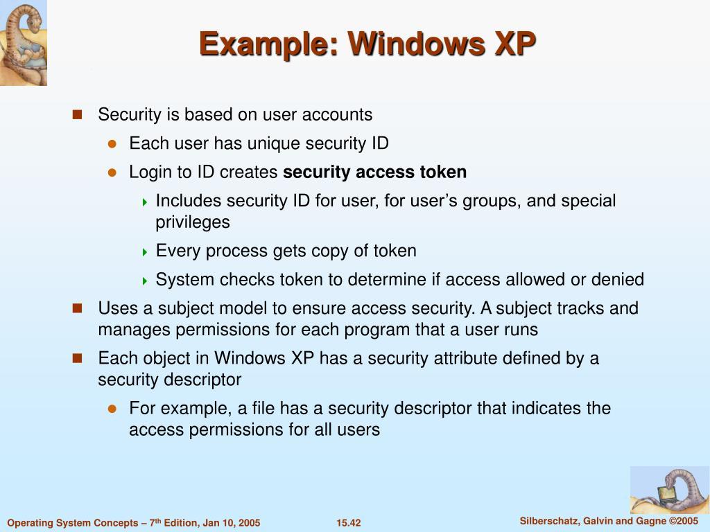 Example: Windows XP
