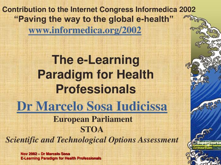 Contribution to the Internet Congress Informedica 2002