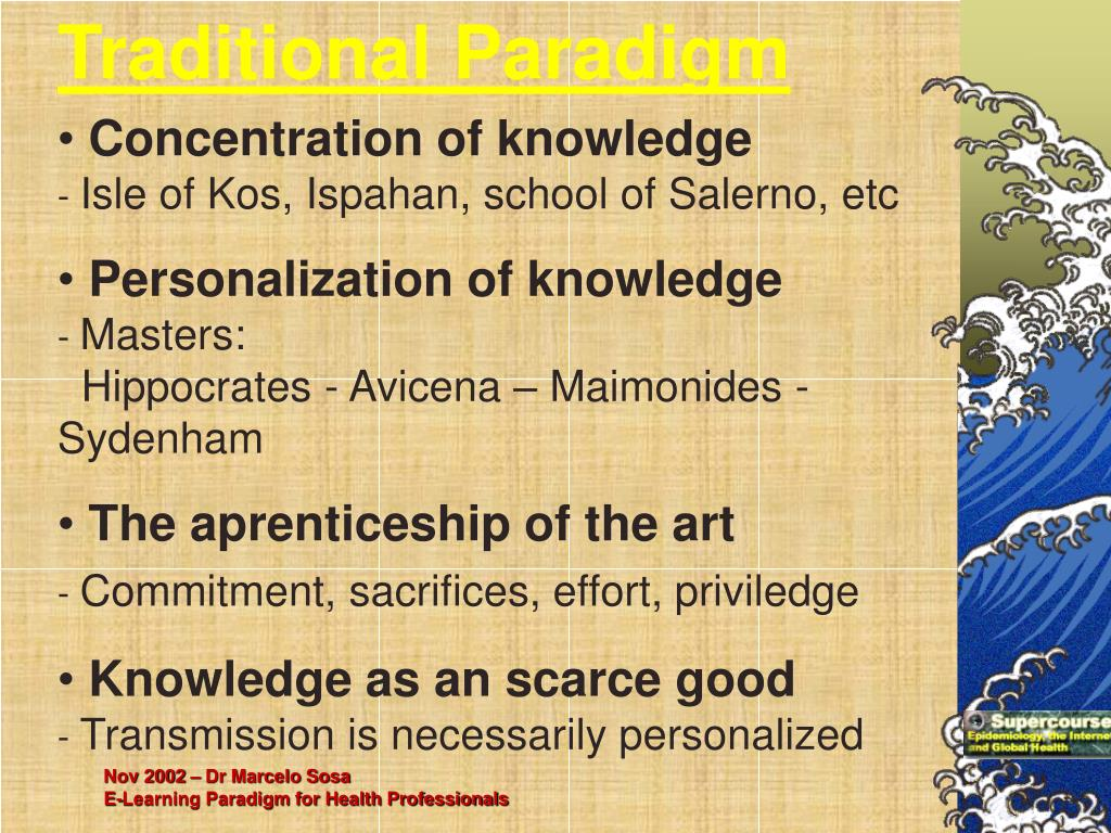 Traditional Paradigm