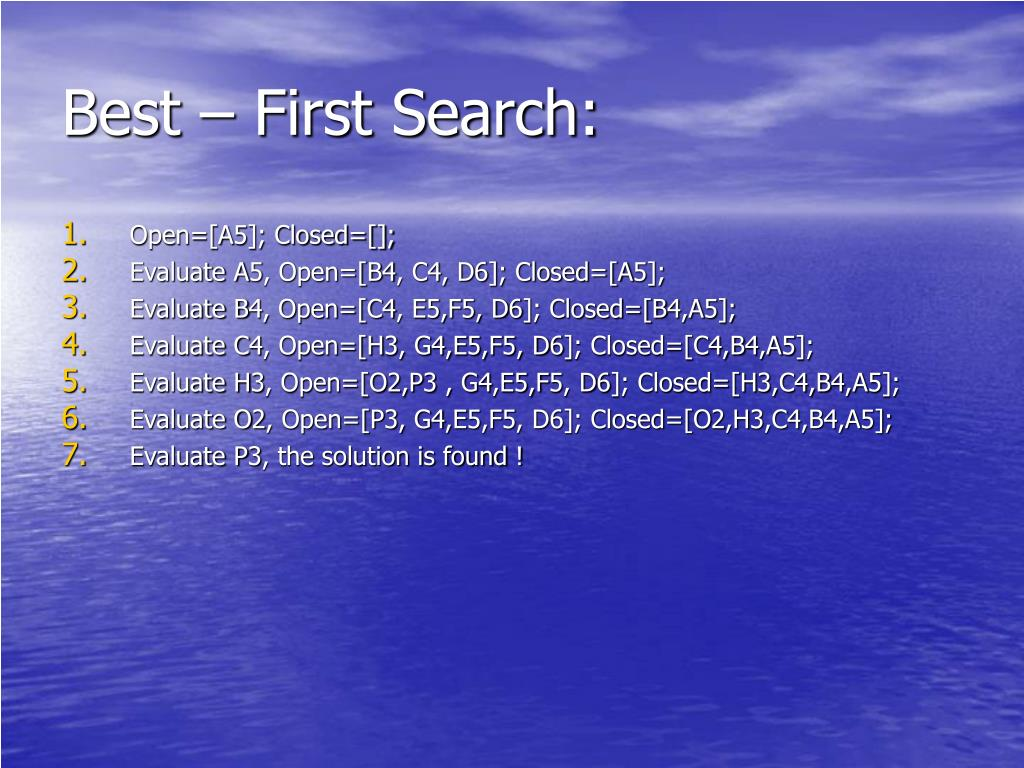 Best – First Search: