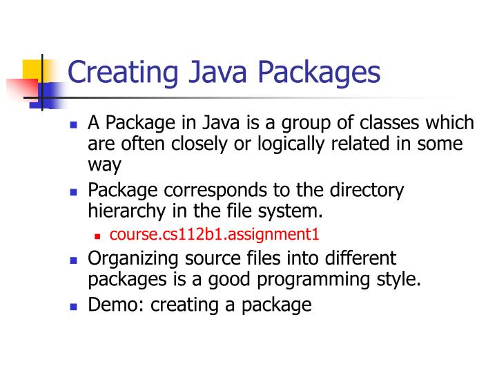 Creating Java Packages