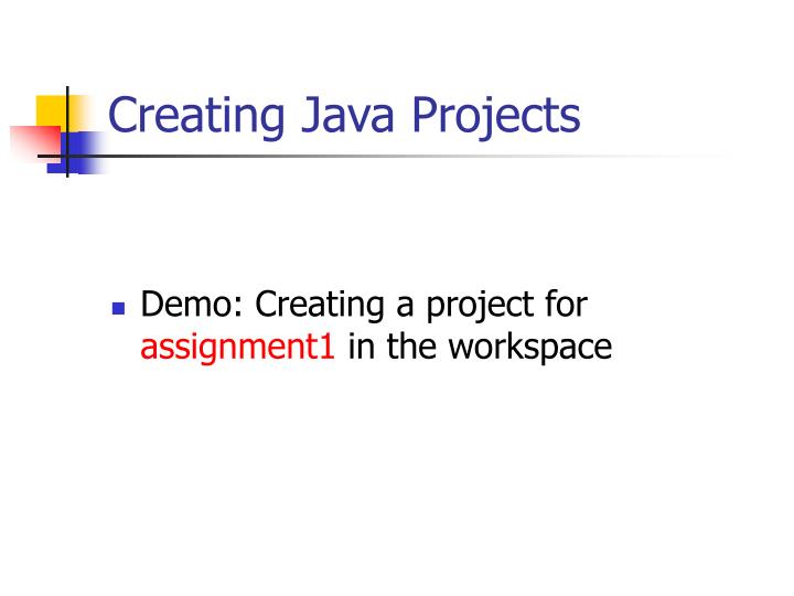 Creating Java Projects