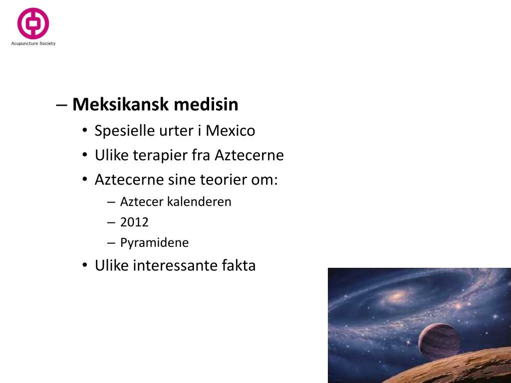 Meksikansk medisin