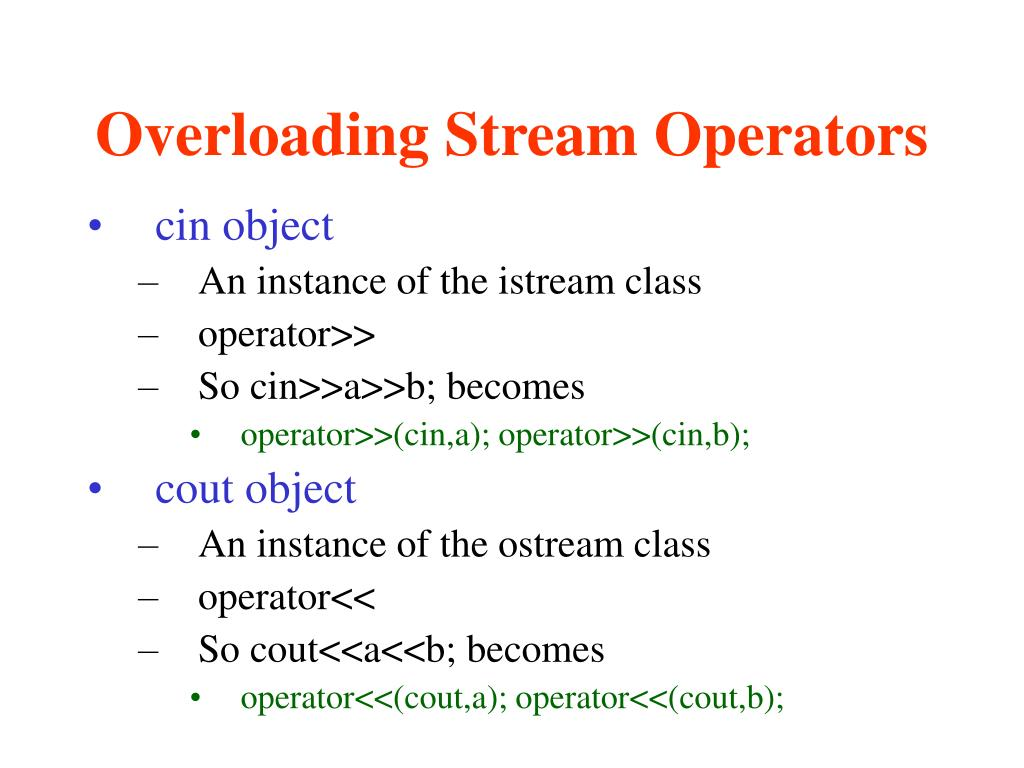 Overloading Stream Operators