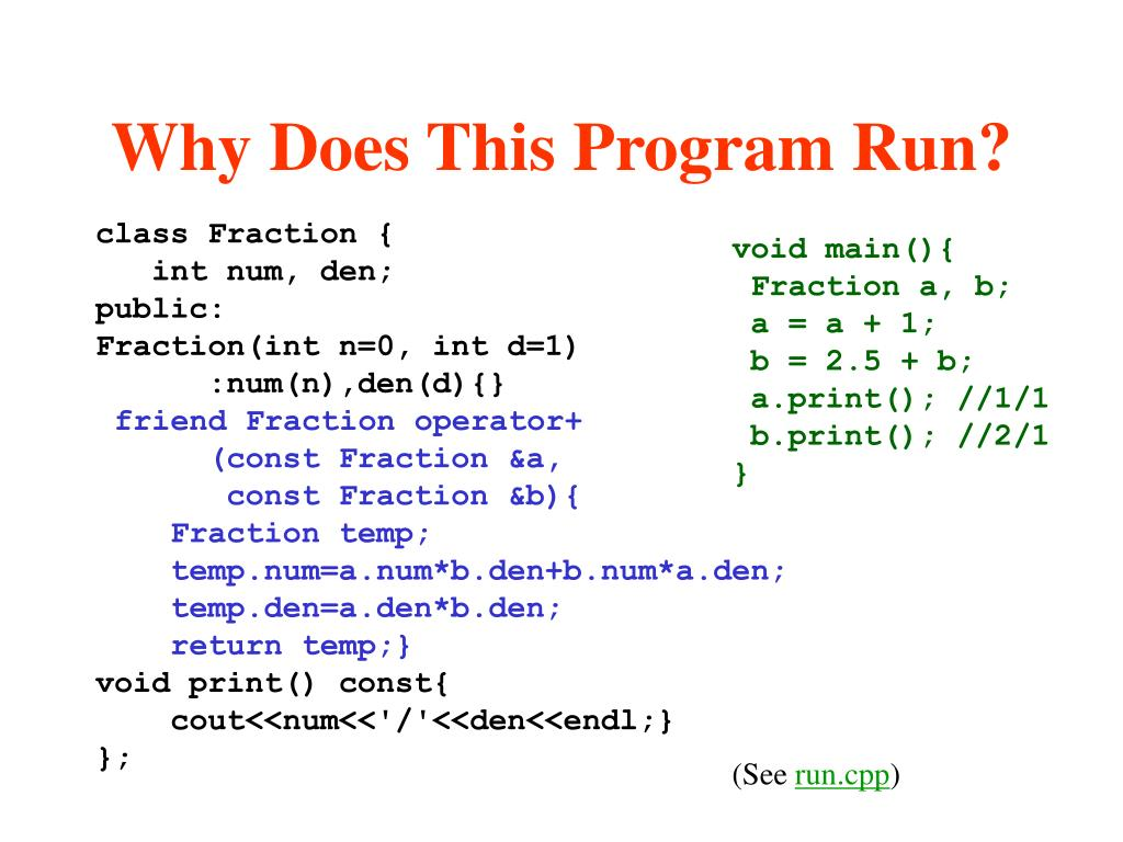 Why Does This Program Run?