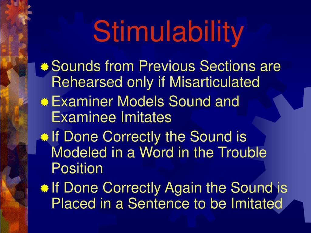 Stimulability