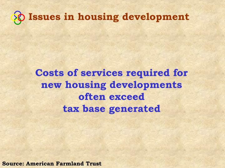 Issues in housing development