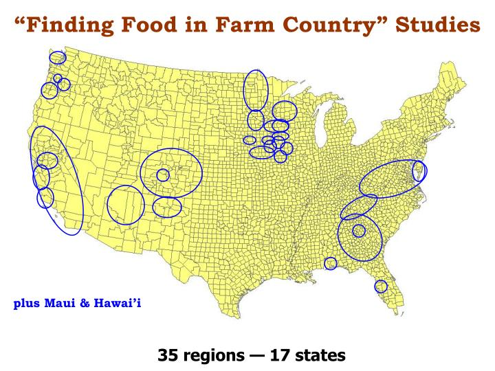 """Finding Food in Farm Country"" Studies"