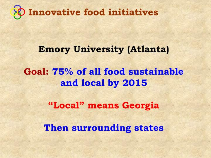Innovative food initiatives