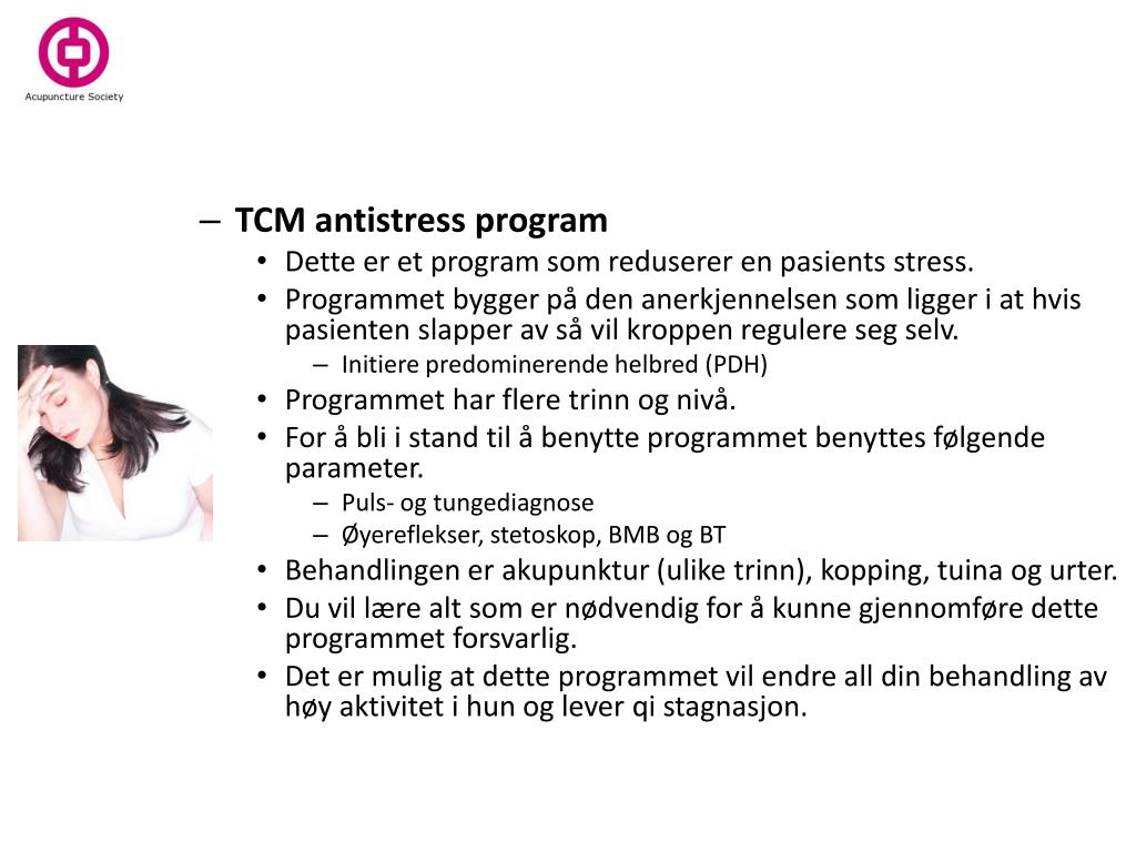 TCM antistress program