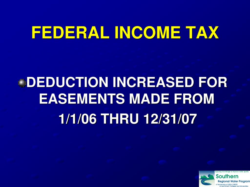 FEDERAL INCOME TAX