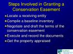 steps involved in granting a conservation easement