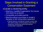 steps involved in granting a conservation easement15