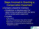 steps involved in granting a conservation easement16