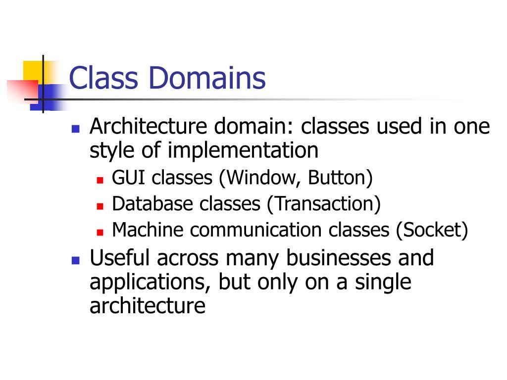 Class Domains