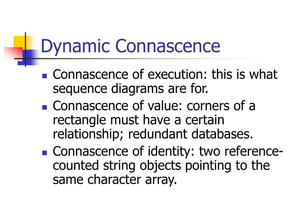 Dynamic Connascence