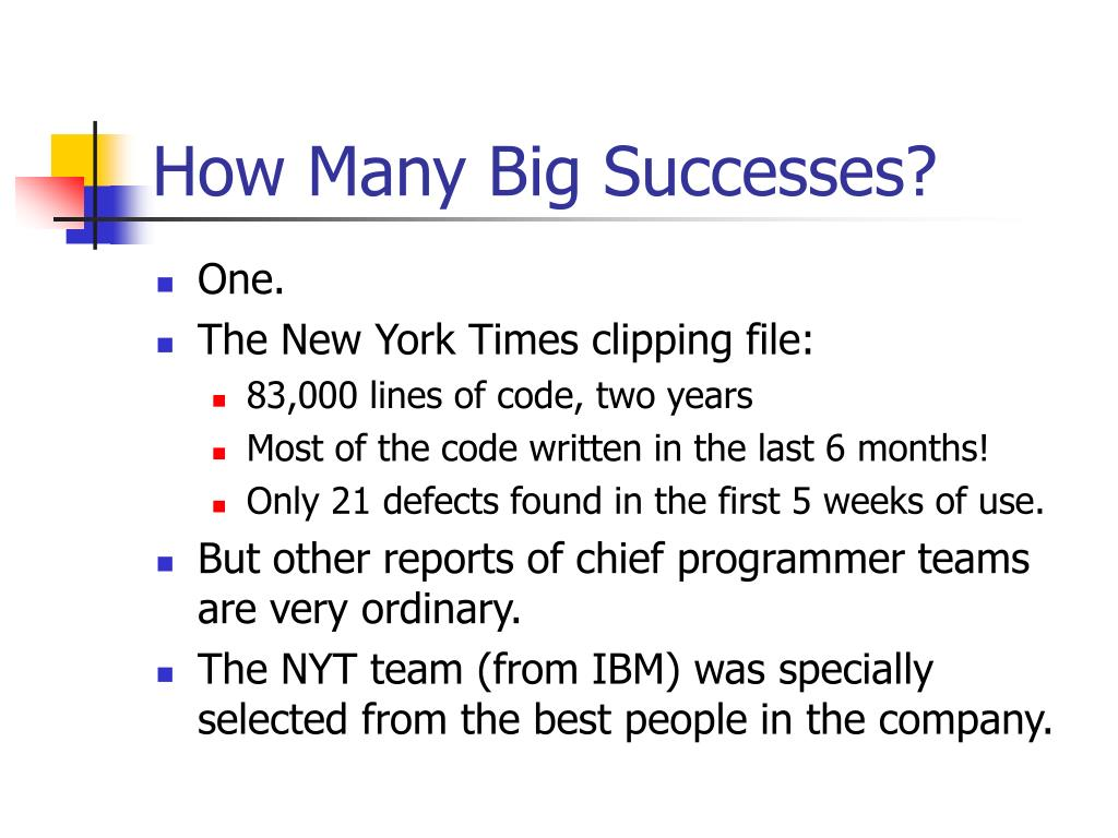 How Many Big Successes?