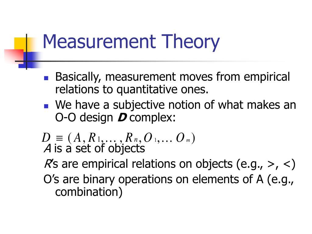 Measurement Theory