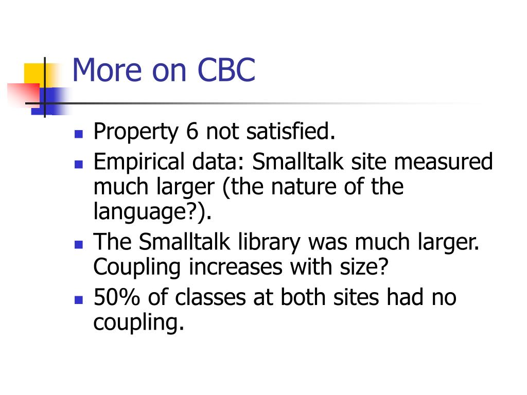 More on CBC