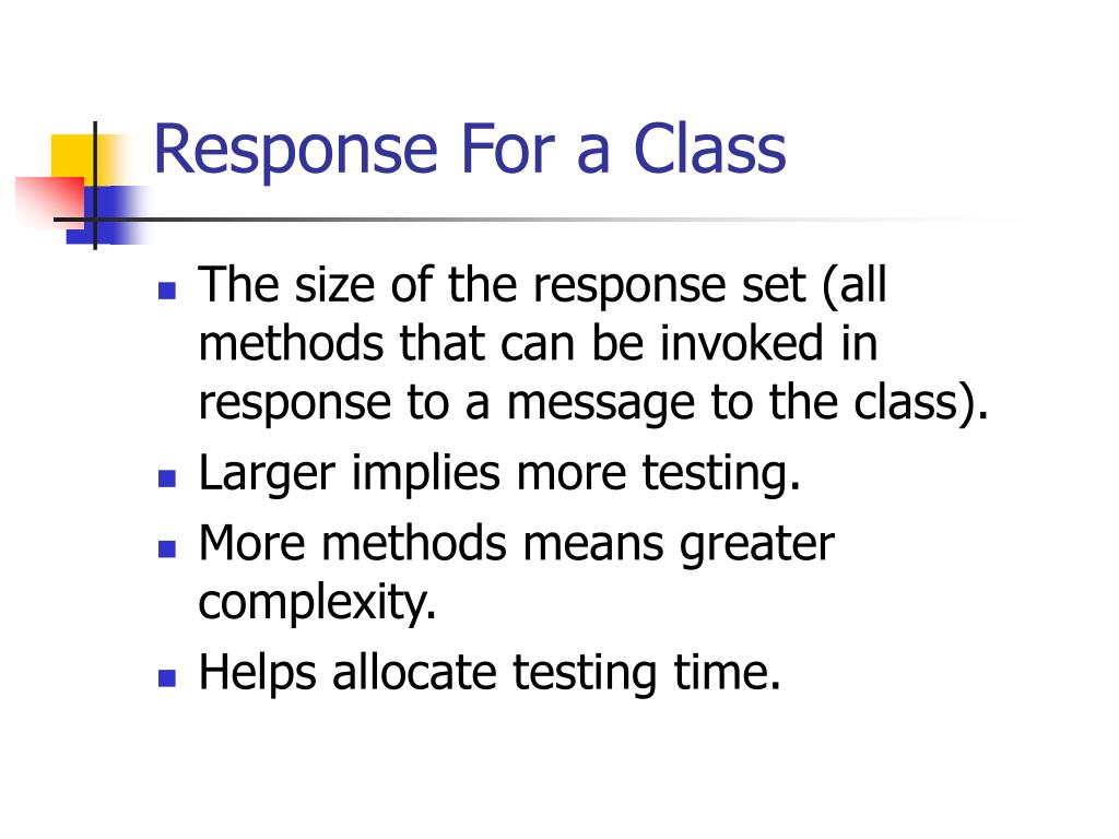 Response For a Class