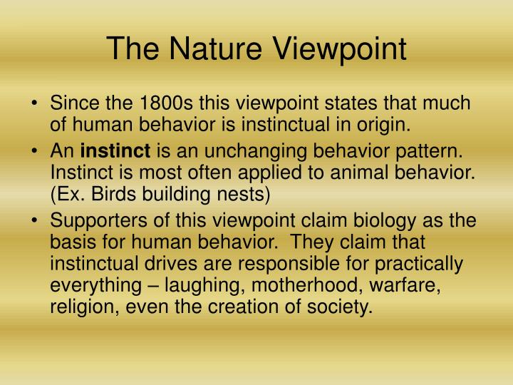 The Nature Viewpoint