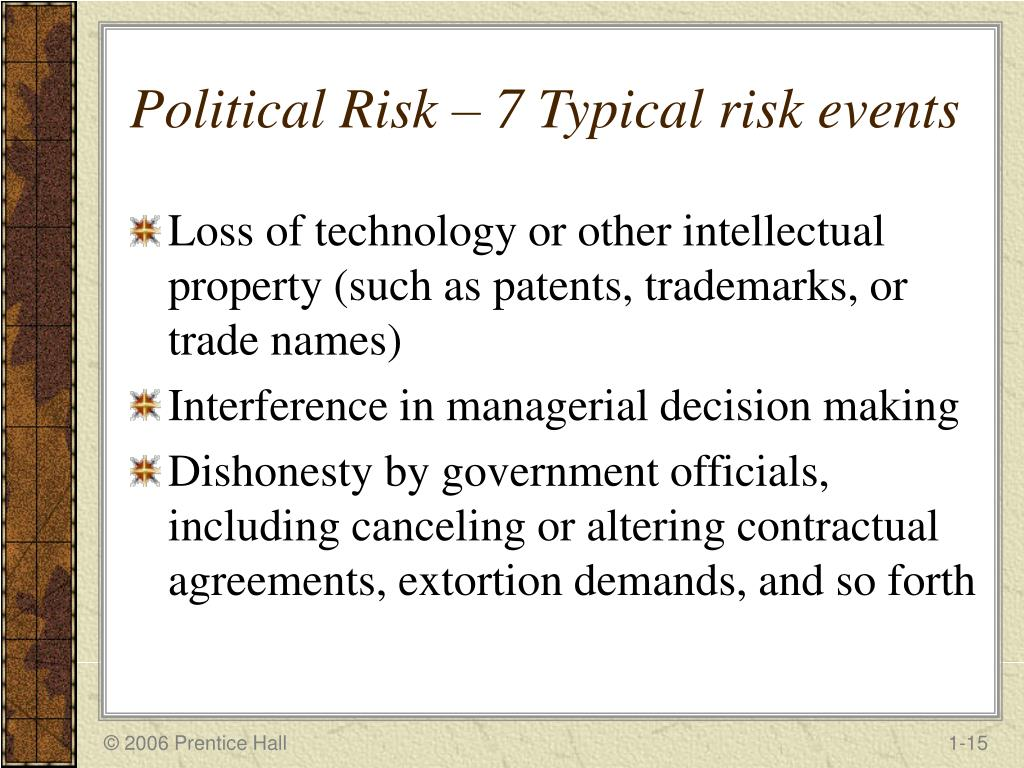 assessing political risk