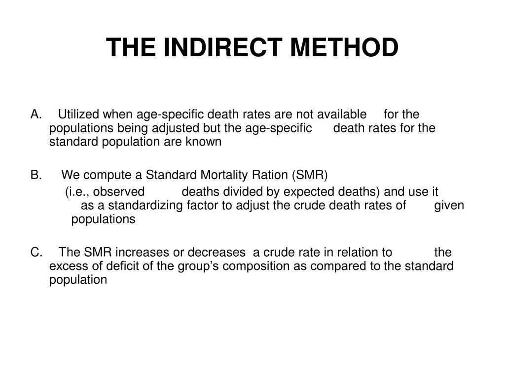 THE INDIRECT METHOD
