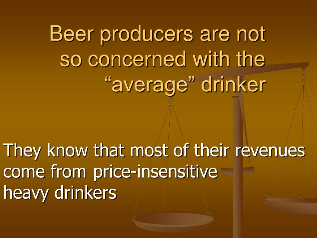 Beer producers are not