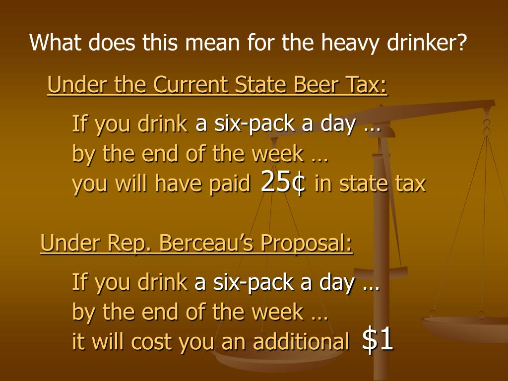 What does this mean for the heavy drinker?