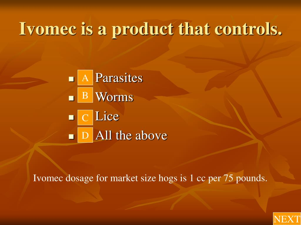 Ivomec is a product that controls.