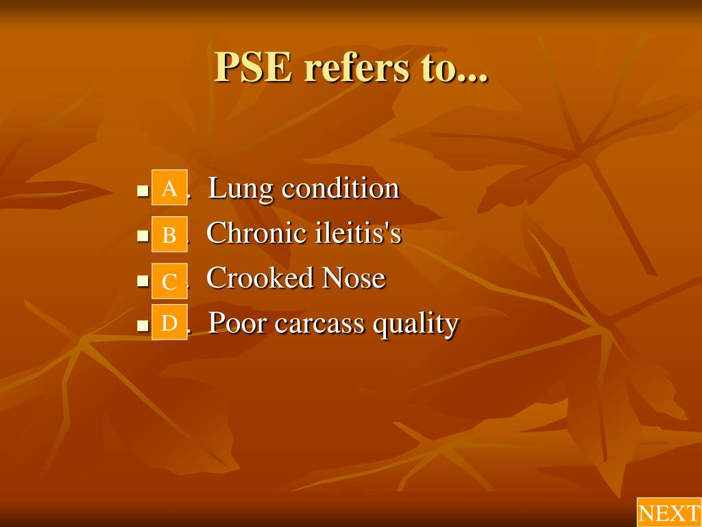 PSE refers to...