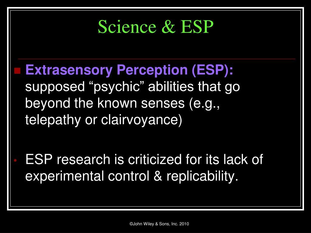 Science & ESP