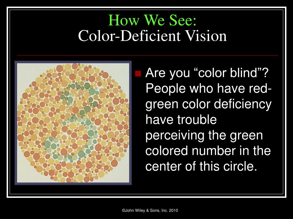"Are you ""color blind""? People who have"
