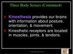three body senses continued43