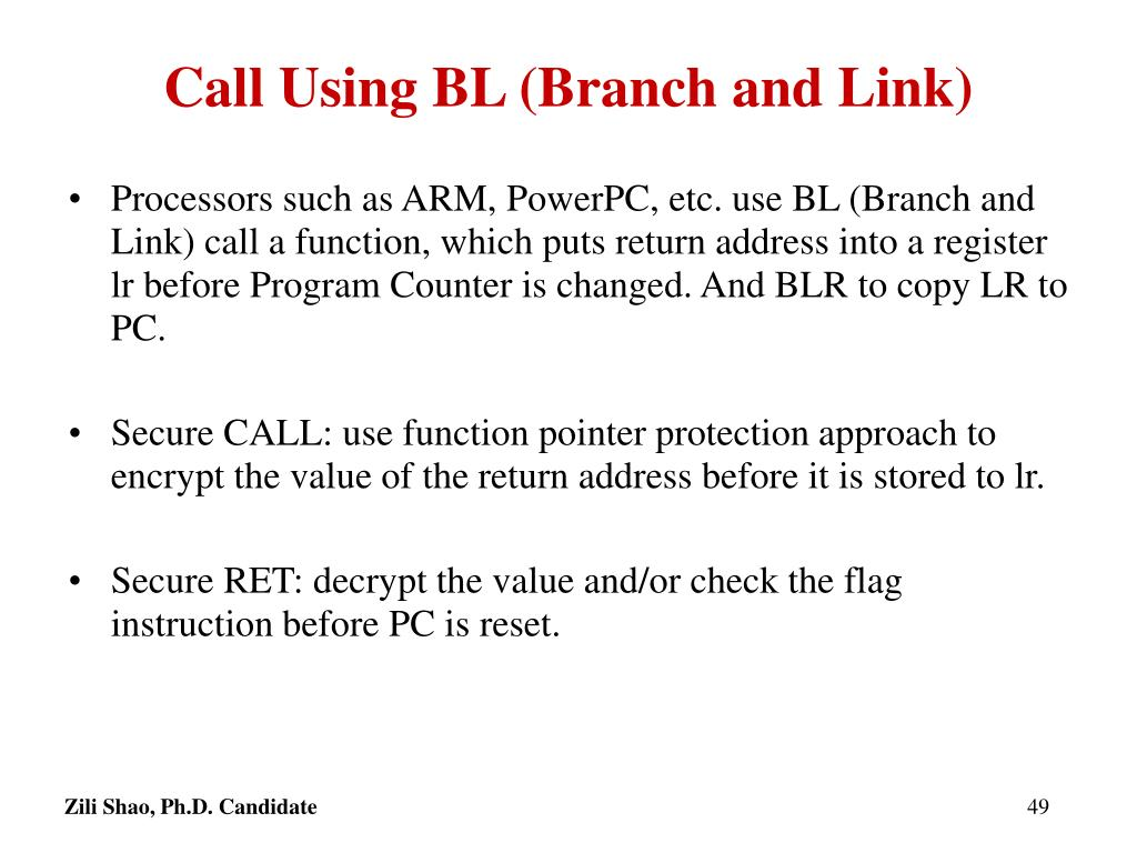 Call Using BL (Branch and Link)