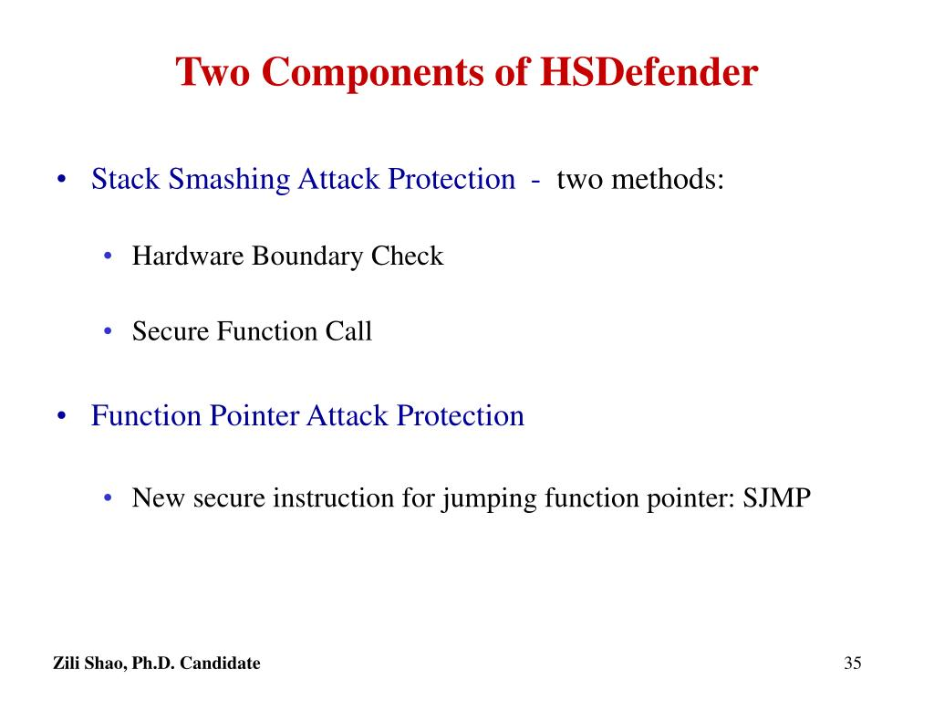 Two Components of HSDefender