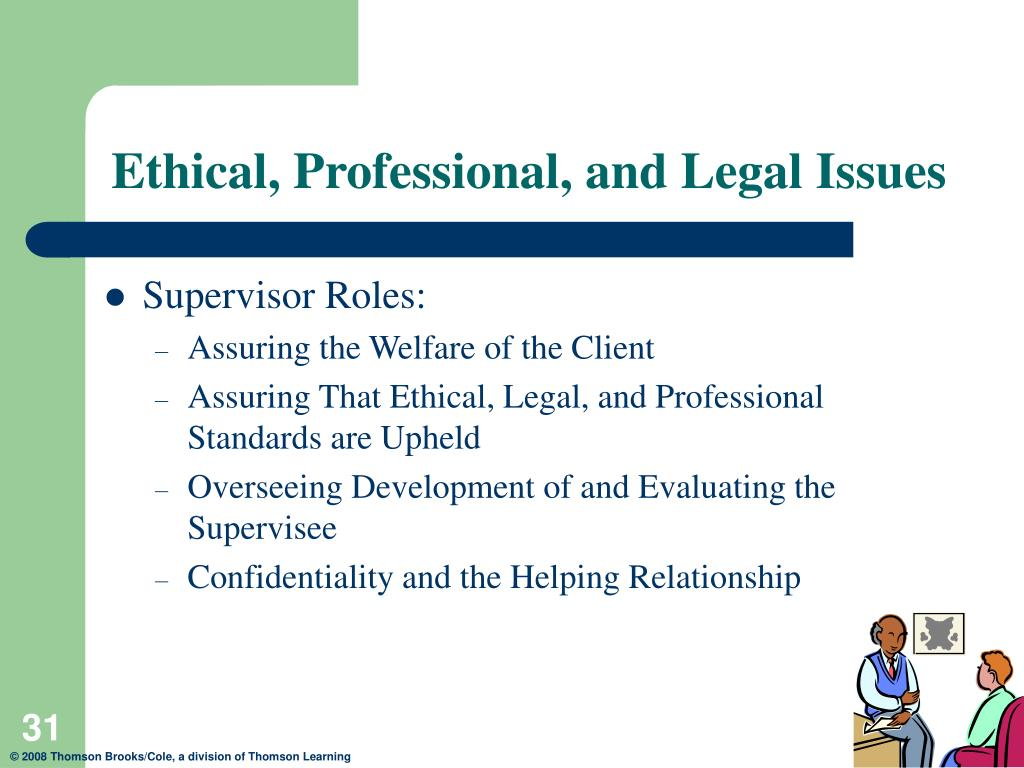 week 4 ethical and legal issues Section 5 ethical issues in community interventions chapter 19 sections section 1 in most situations, ethical and legal behavior go hand in hand.